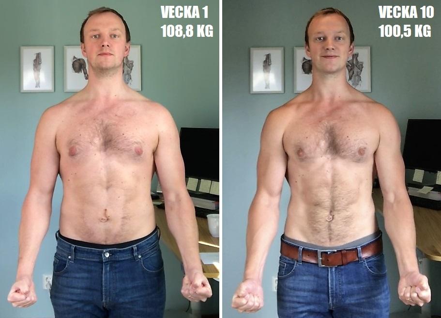 tappa 10 kg på en månad