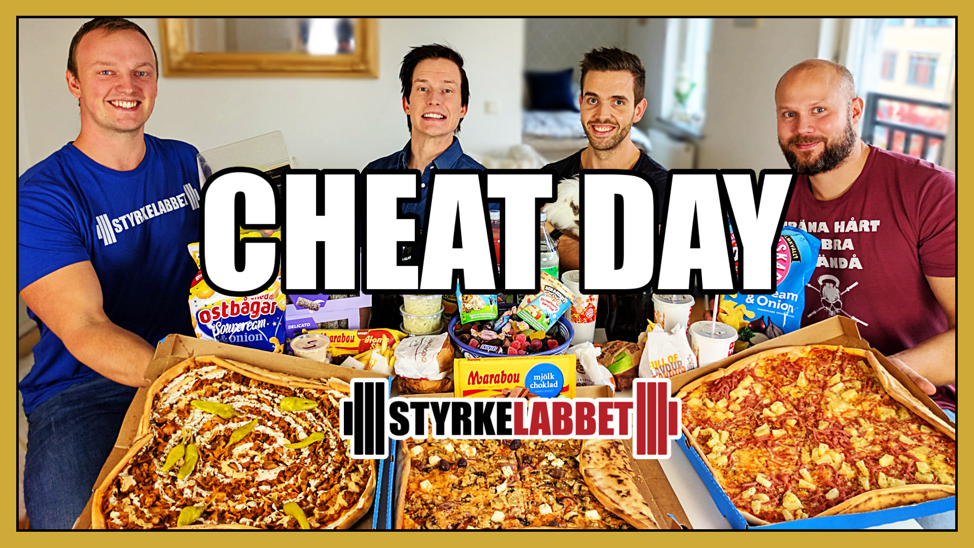 Sveriges STÖRSTA cheat day? Styrkelabbet gästade Matkoma