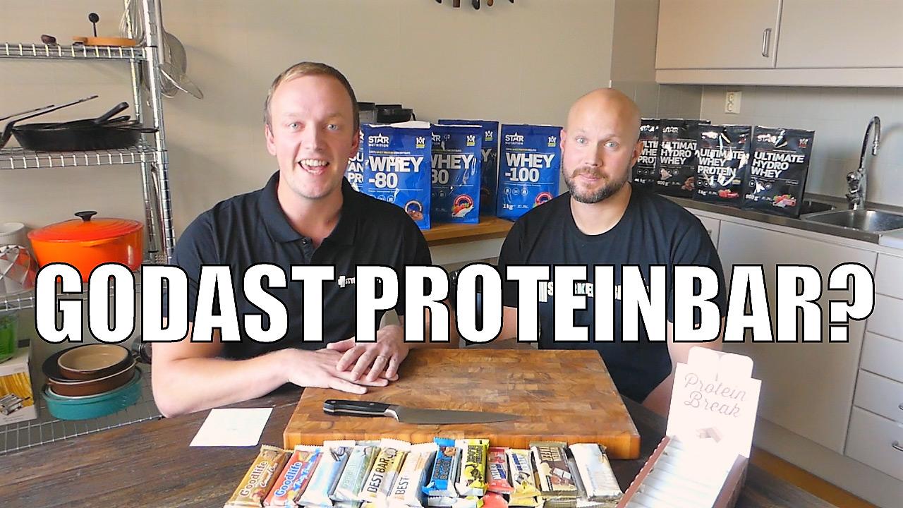 Styrkelabbet testar 13 st proteinbars