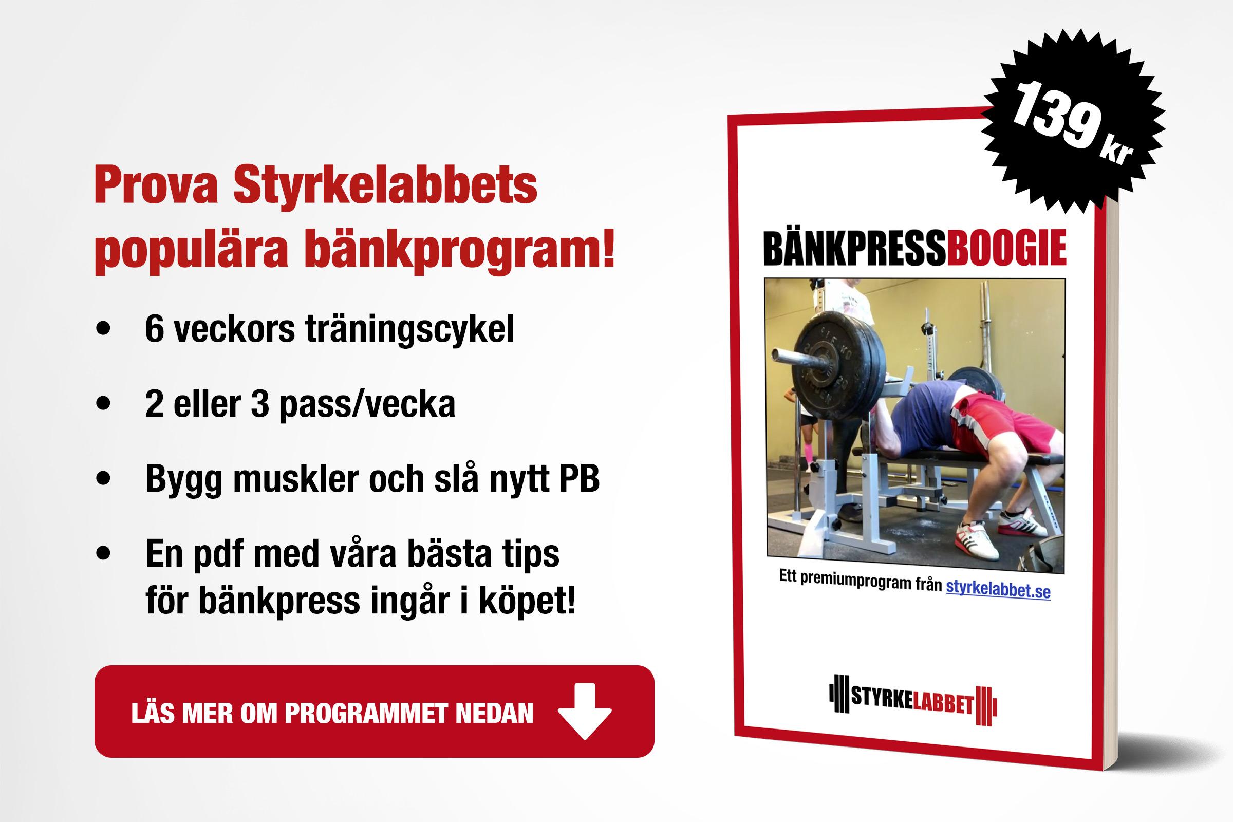 Bänkpress Boogie: Sex veckors träningsprogram för bänkpress!