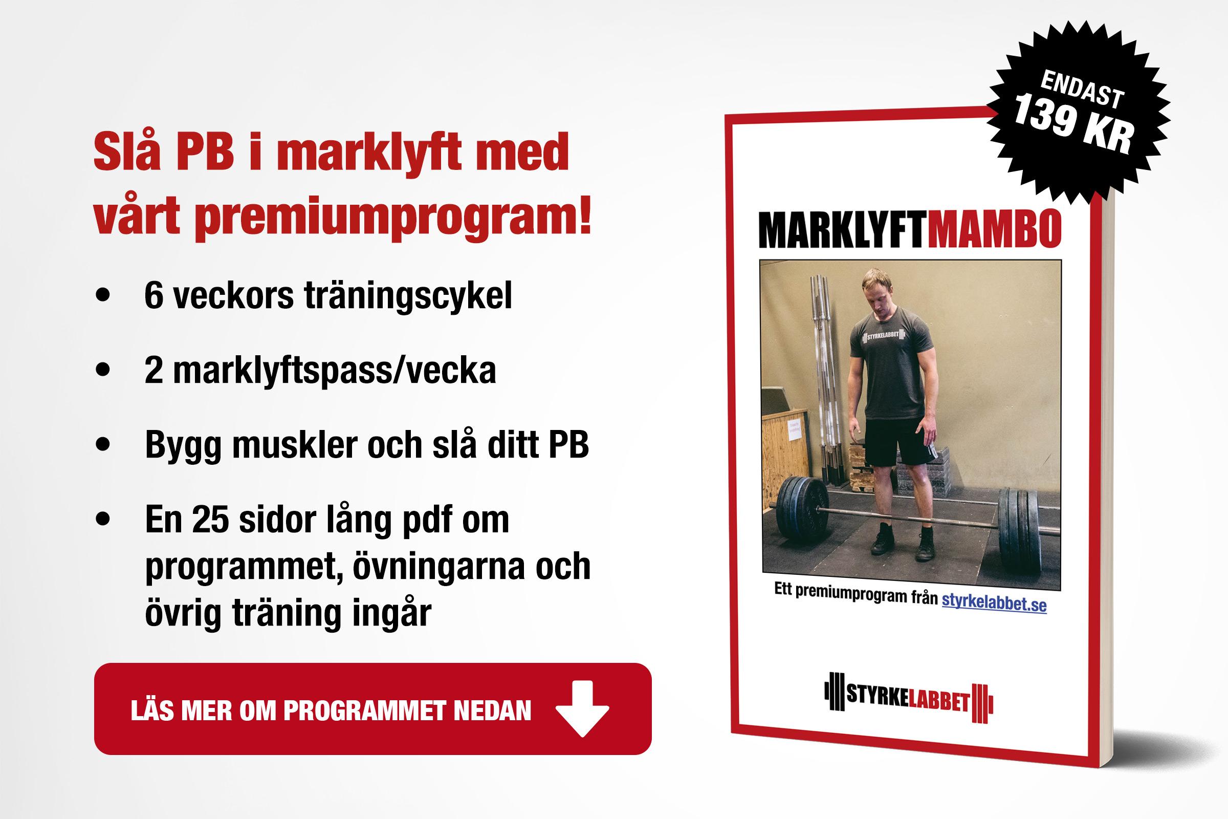 Marklyft Mambo: Sex veckors träningsprogram för marklyft!