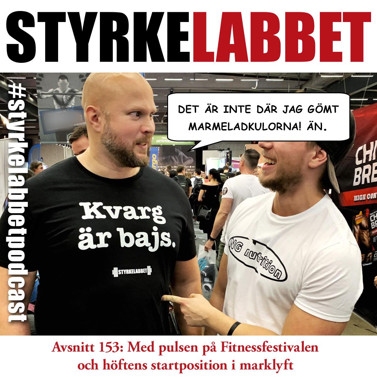 Styrkelabbet avsnitt 153: Med pulsen på Fitnessfestivalen och höftens startposition i marklyft